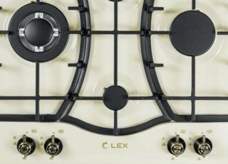 Газовая варочная панель Lex GVE 6043 C IV Light в стиле ретро